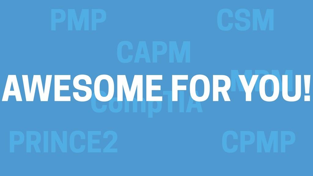 PMP CSM CAPM CompTIA PRINCE2 MPM CPMP AWESOME F...