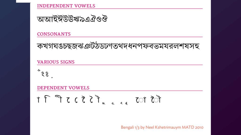 Bengali 1/3 by Neel Kshetrimauym MATD 2010