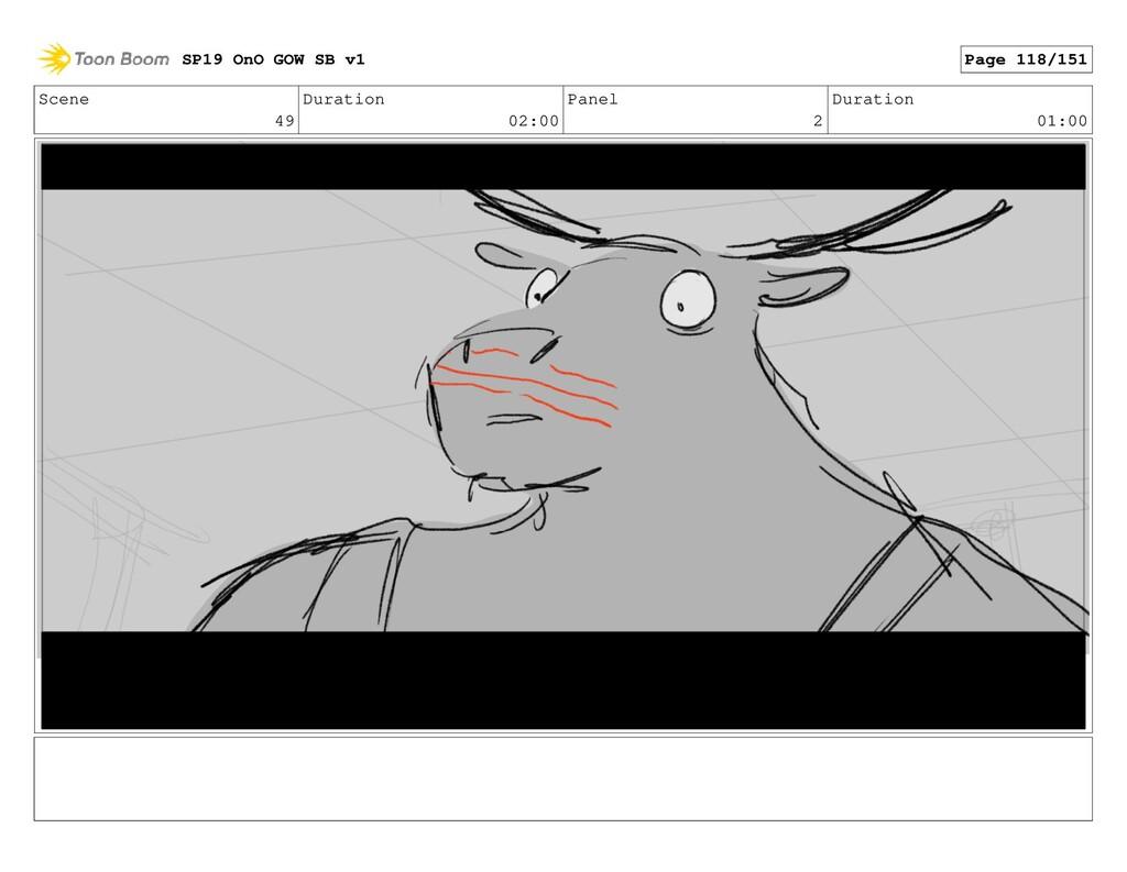Scene 49 Duration 02:00 Panel 2 Duration 01:00 ...