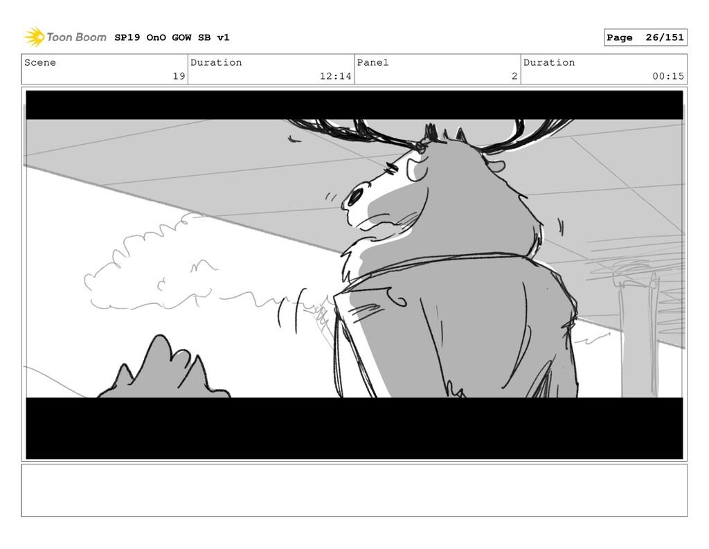 Scene 19 Duration 12:14 Panel 2 Duration 00:15 ...