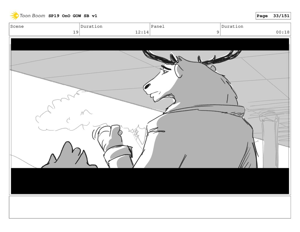 Scene 19 Duration 12:14 Panel 9 Duration 00:18 ...