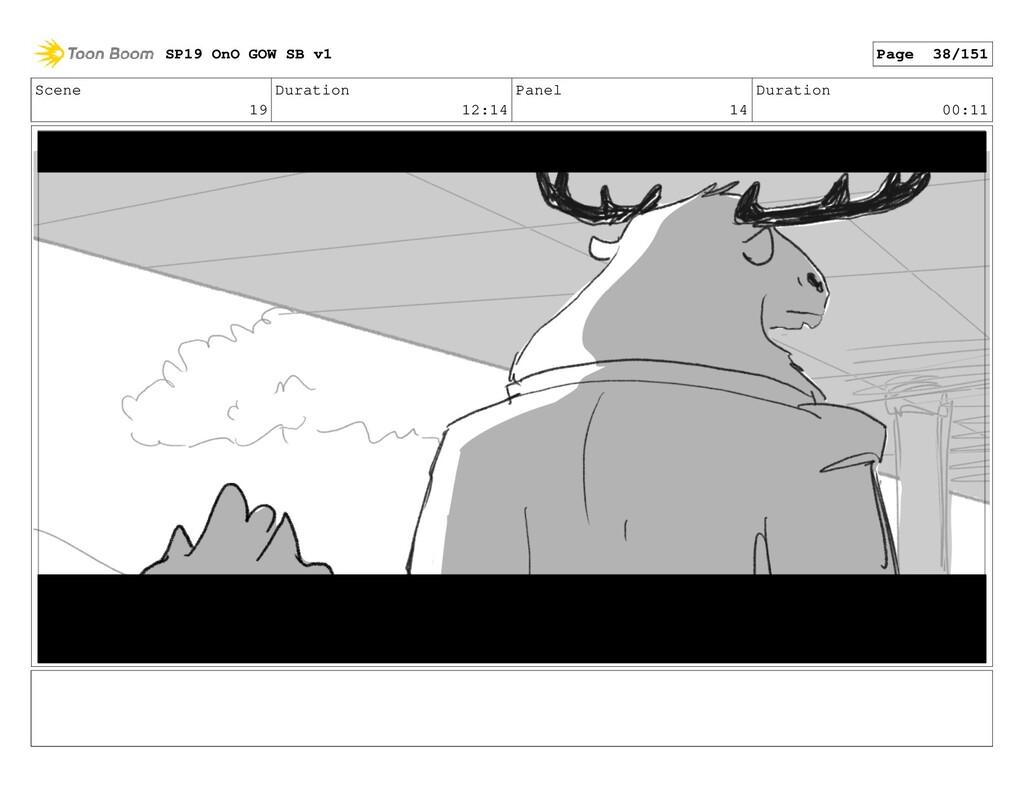 Scene 19 Duration 12:14 Panel 14 Duration 00:11...
