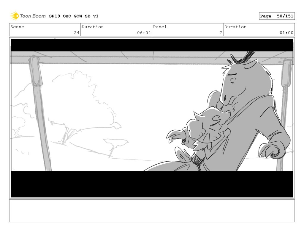 Scene 24 Duration 06:04 Panel 7 Duration 01:00 ...