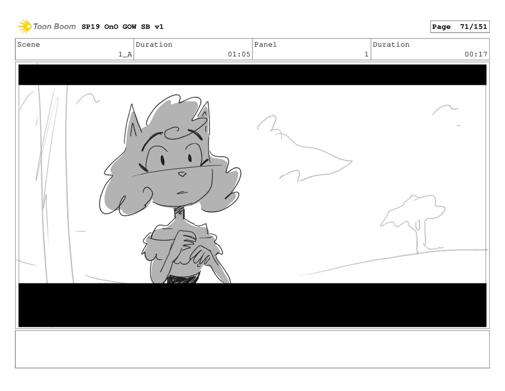 Scene 1_A Duration 01:05 Panel 1 Duration 00:17...