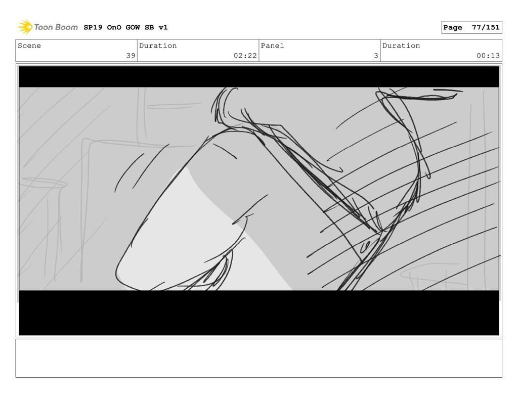 Scene 39 Duration 02:22 Panel 3 Duration 00:13 ...