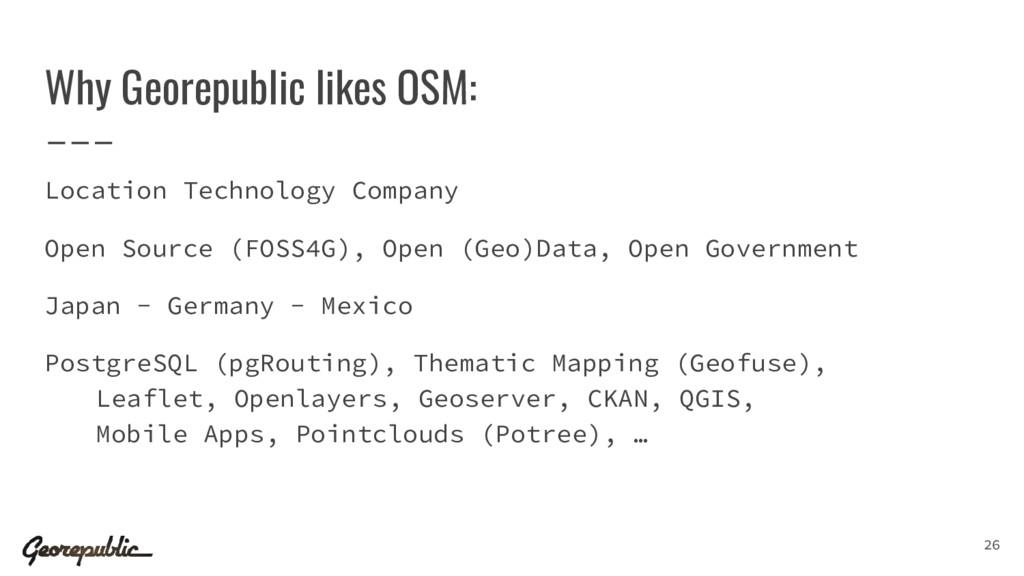 Why Georepublic likes OSM: Location Technology ...