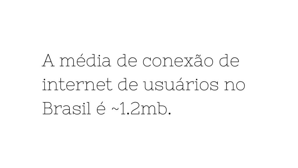 A média de conexão de internet de usuários no B...