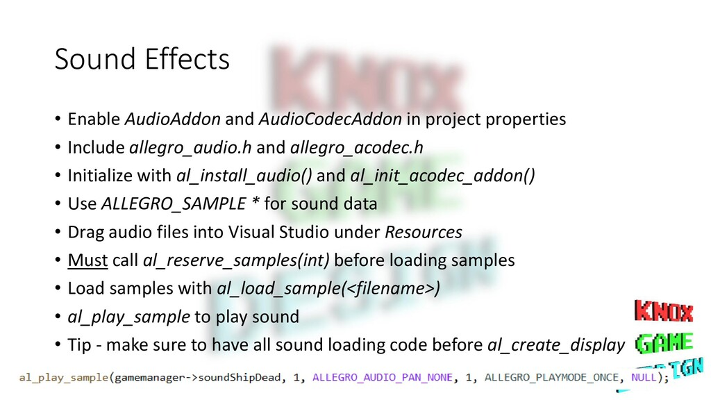 Sound Effects • Enable AudioAddon and AudioCode...