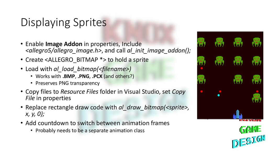 Displaying Sprites • Enable Image Addon in prop...