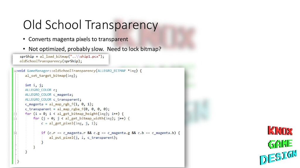 Old School Transparency • Converts magenta pixe...