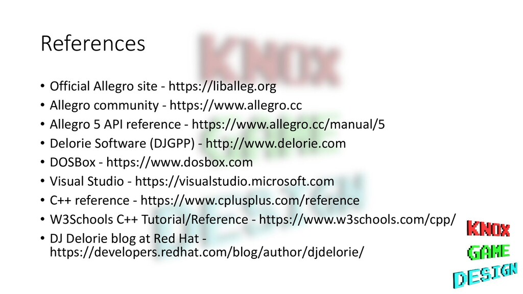 References • Official Allegro site - https://li...