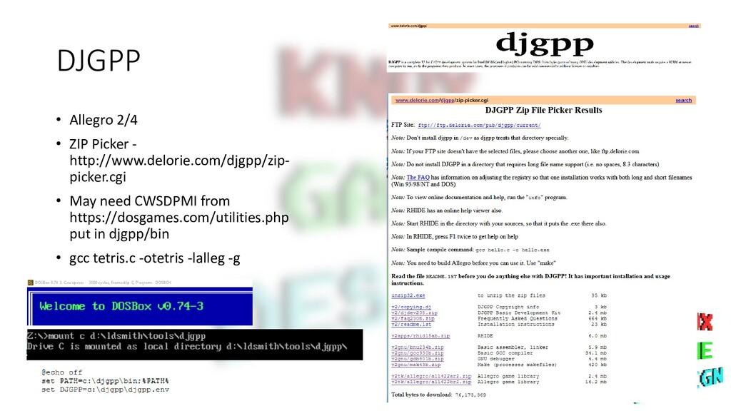 DJGPP • Allegro 2/4 • ZIP Picker - http://www.d...