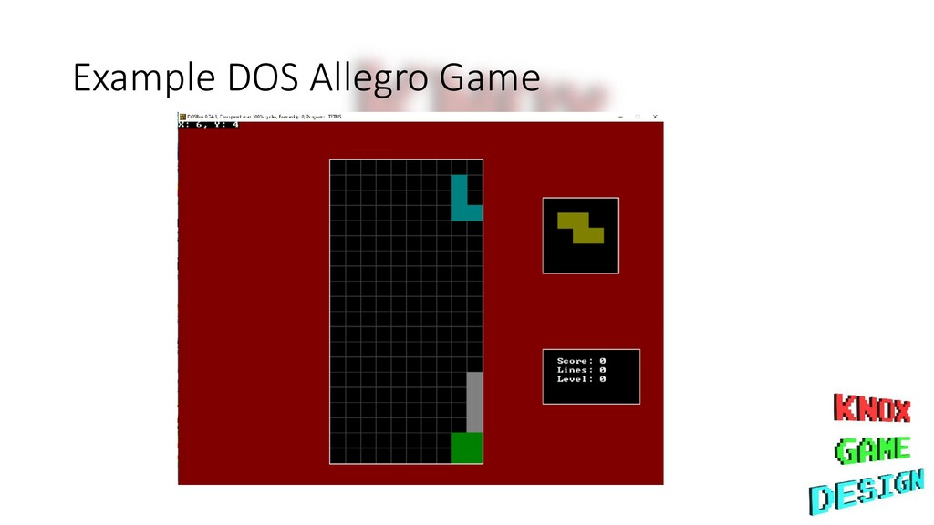 Example DOS Allegro Game