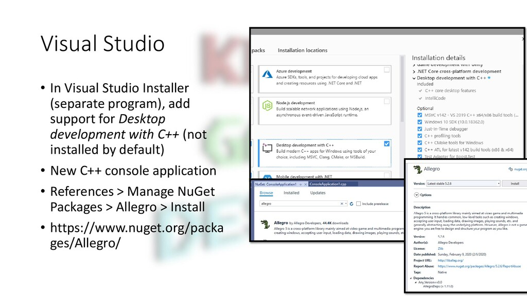 Visual Studio • In Visual Studio Installer (sep...