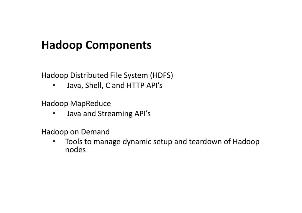 Hadoop	