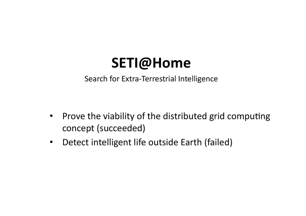 SETI@Home	