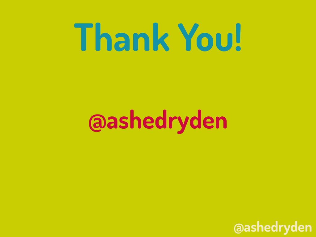 @ashedryden Thank You! @ashedryden