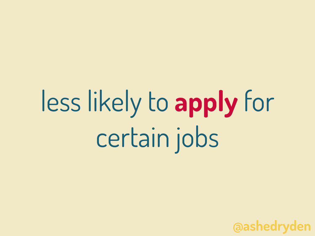 @ashedryden less likely to apply for certain jo...