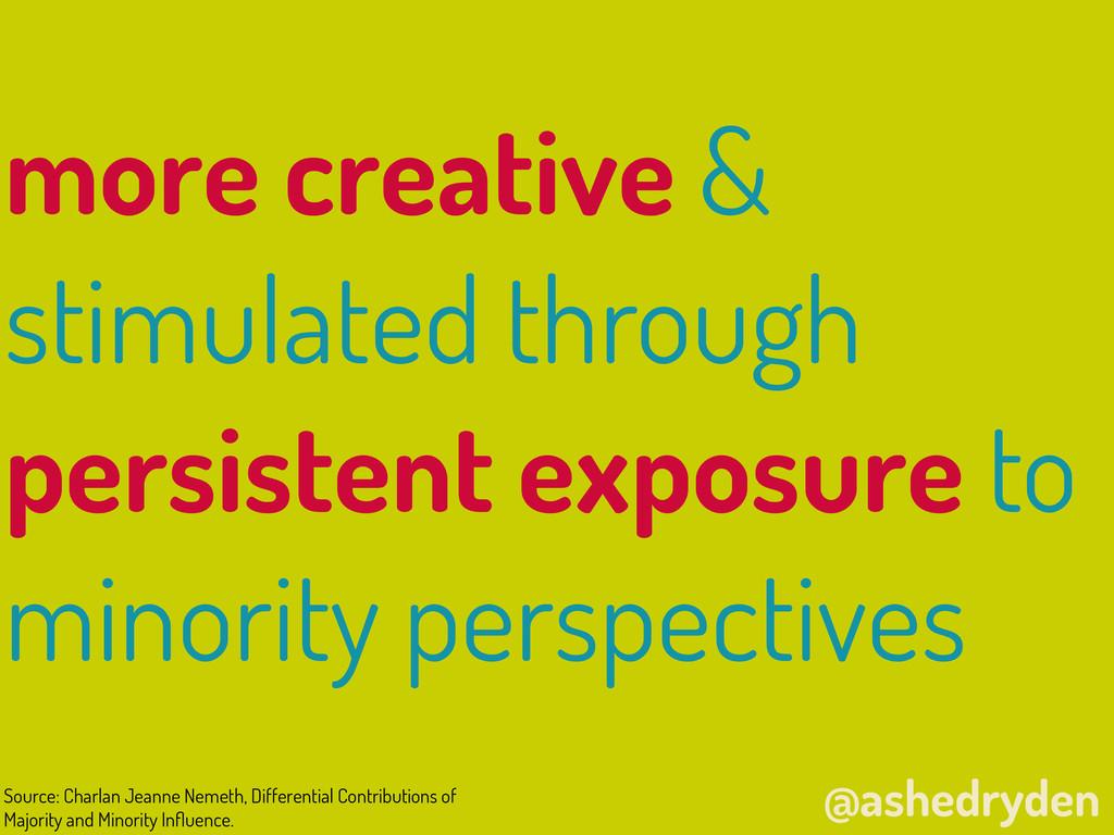 @ashedryden more creative & stimulated through ...