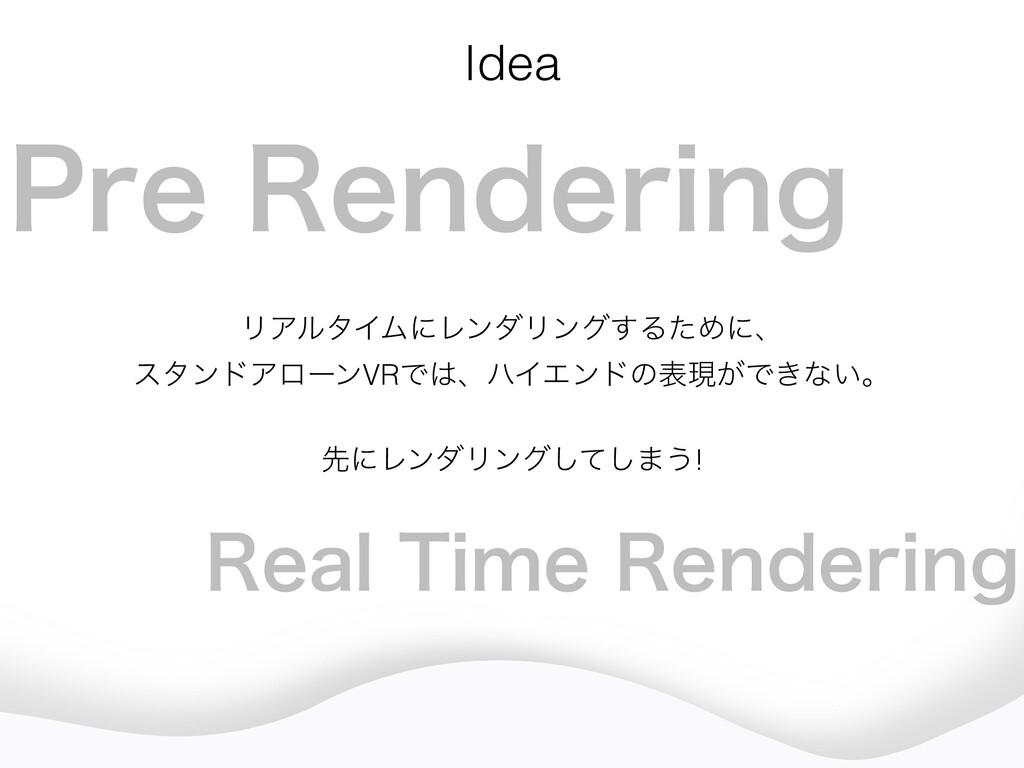 Idea ϦΞϧλΠϜʹϨϯμϦϯά͢ΔͨΊʹɺ ελϯυΞϩʔϯVRͰɺϋΠΤϯυͷදݱ͕...
