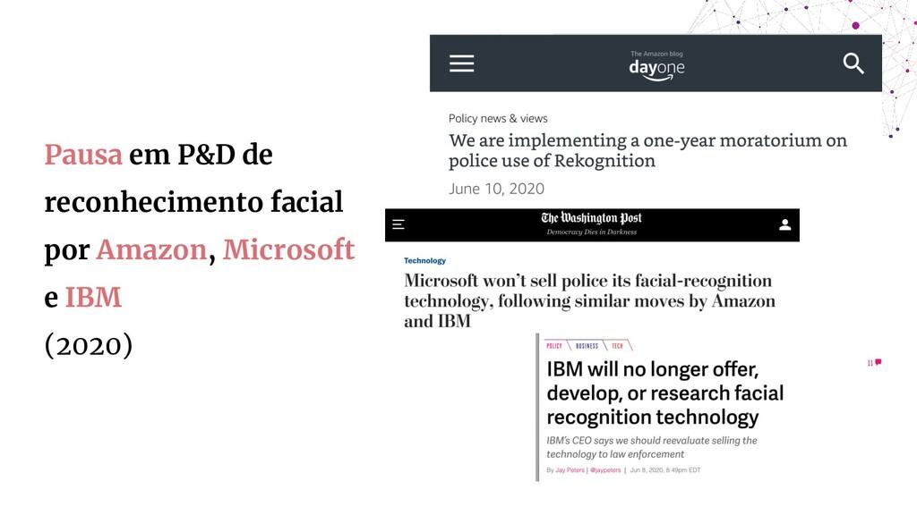 Pausa em P&D de reconhecimento facial por Amazo...