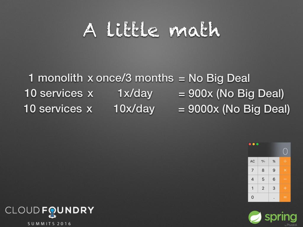 A little math 1 monolith x once/3 months = No B...