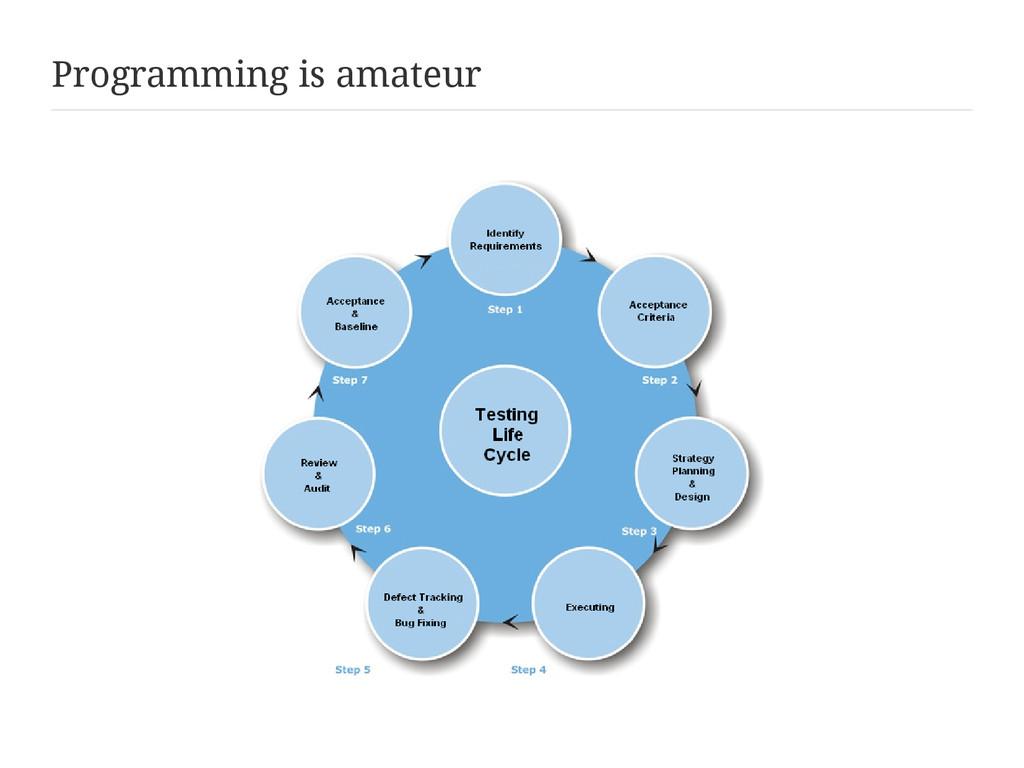Programming is amateur