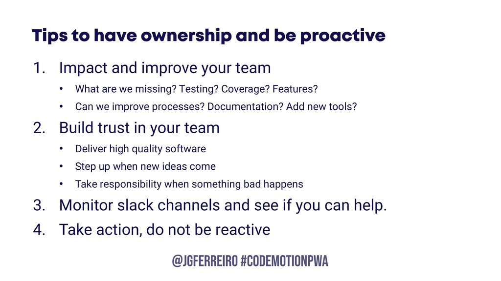 @JGFERREIRO @JGFERREIRO #codemotionpwa Tips to ...