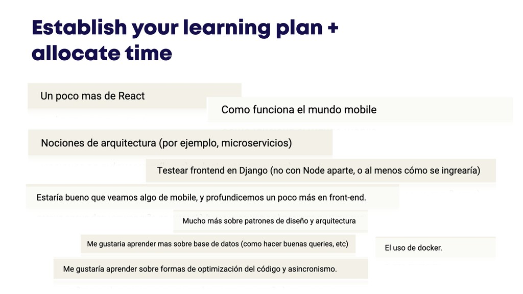 @JGFERREIRO @JGFERREIRO Establish your learning...