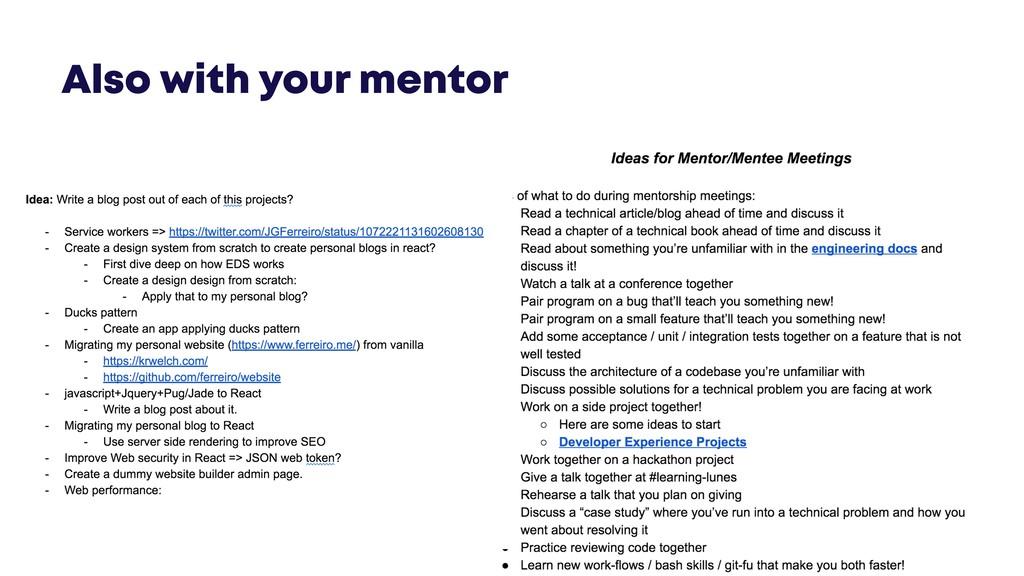 @JGFERREIRO @JGFERREIRO Also with your mentor