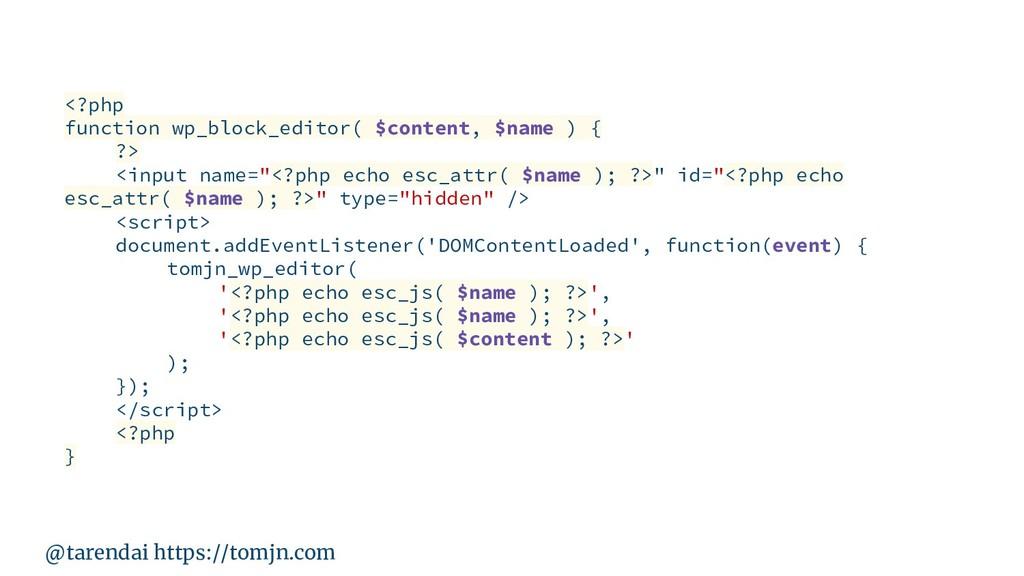 @tarendai https://tomjn.com <?php function wp_b...