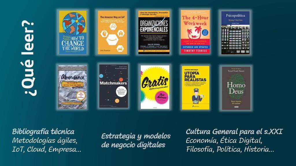 ¿Qué leer? Bibliografía técnica Metodologías ág...