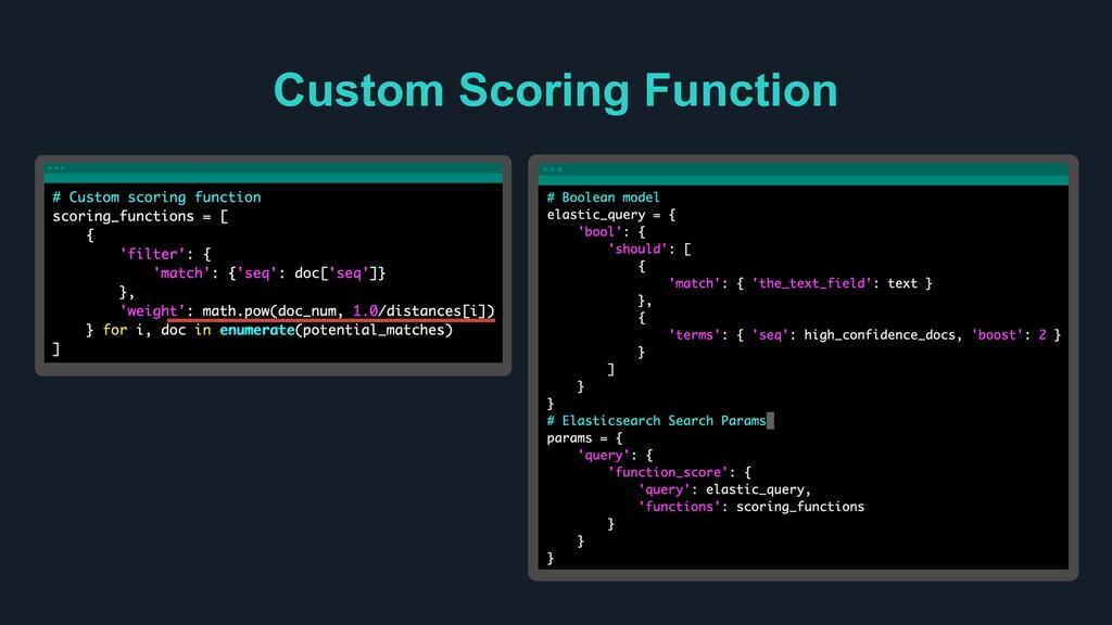 Ƃ Custom Scoring Function Ƃ