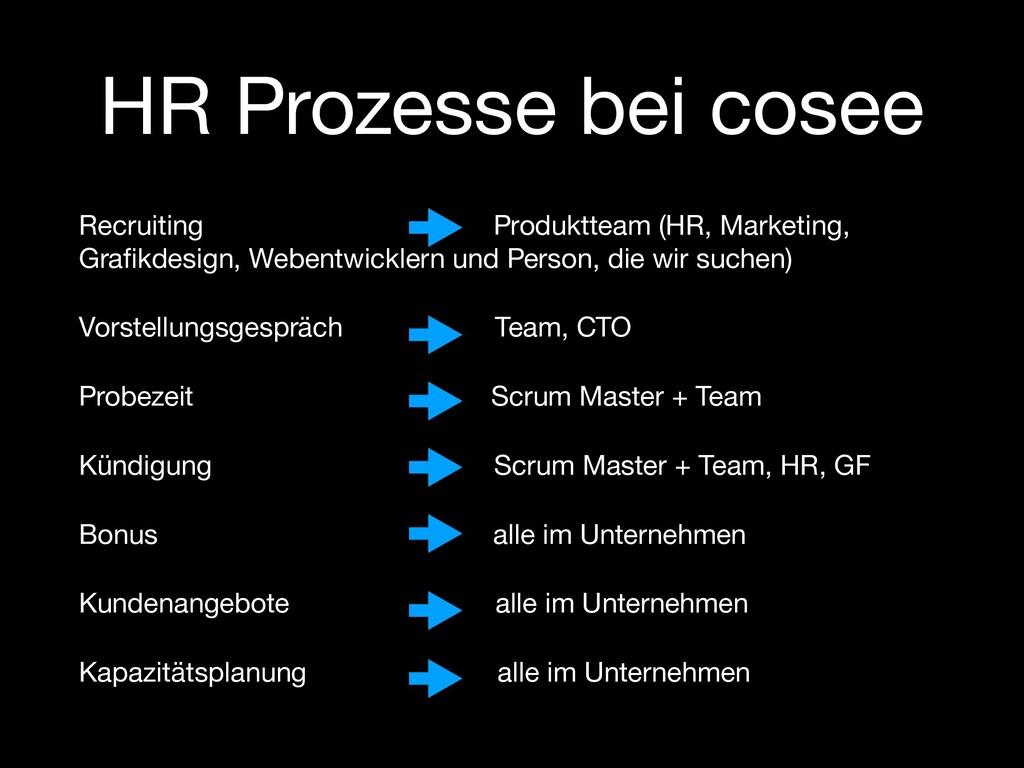 HR Prozesse bei cosee Recruiting Produktteam (H...