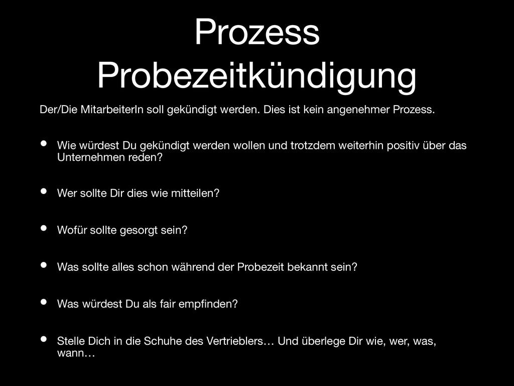Prozess Probezeitkündigung Der/Die MitarbeiterI...
