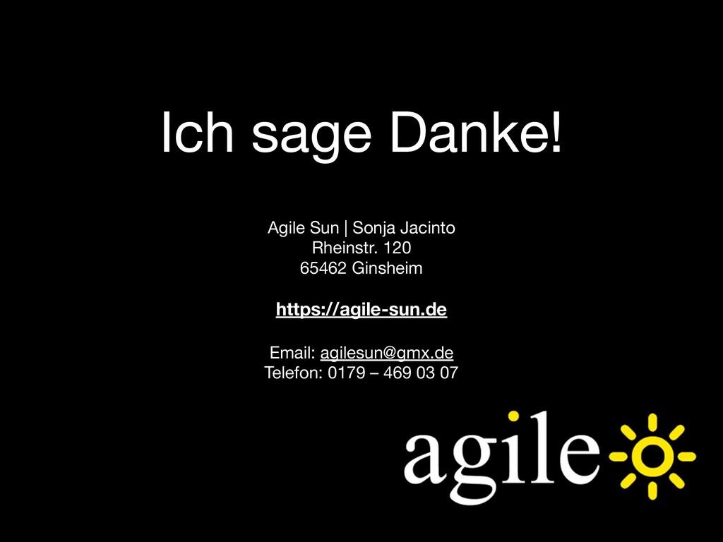 Ich sage Danke! Agile Sun | Sonja Jacinto Rhein...