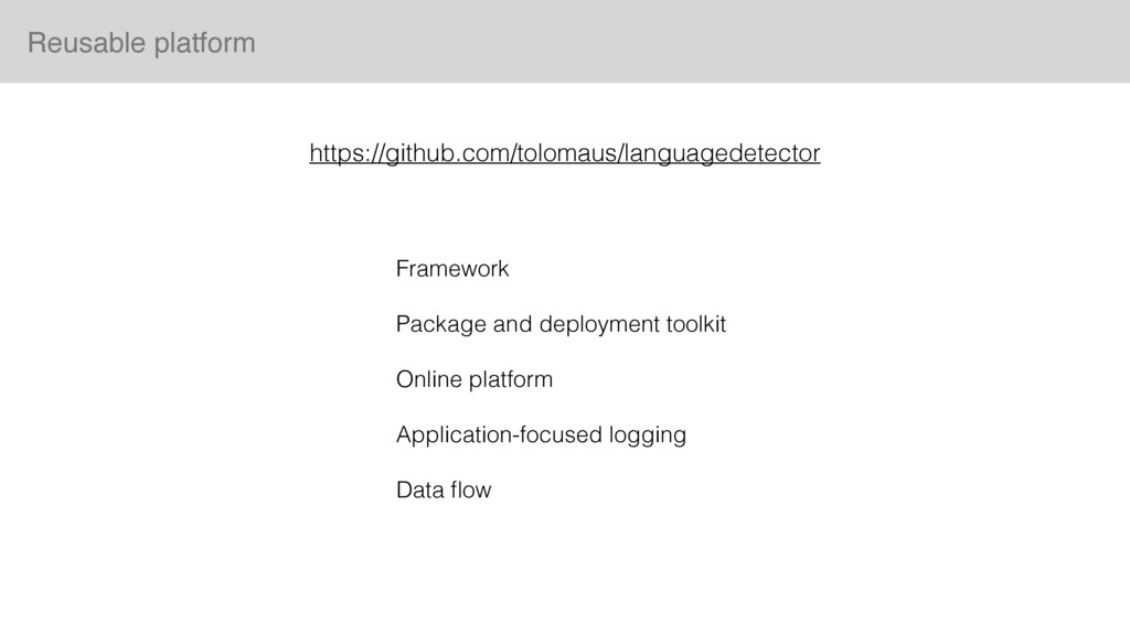 Framework Package and deployment toolkit Online...