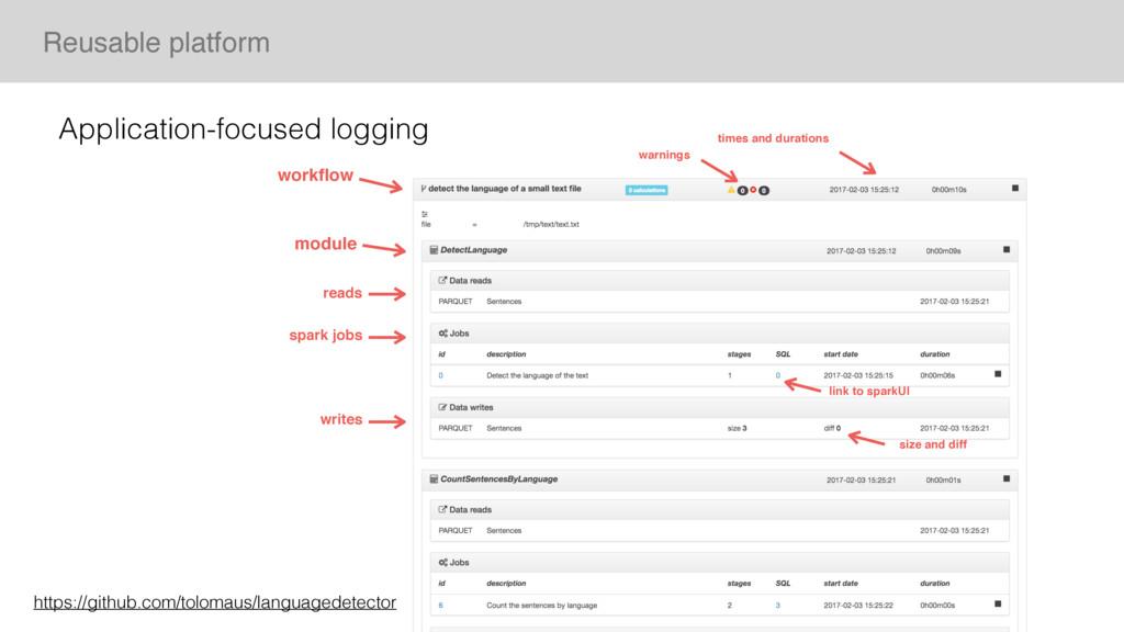 Reusable platform workflow module reads writes w...