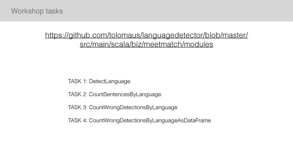 TASK 1: DetectLanguage TASK 2: CountSentencesBy...