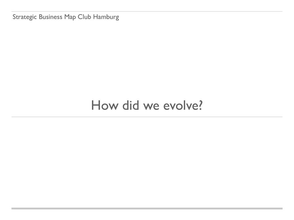 Strategic Business Map Club Hamburg How did we ...