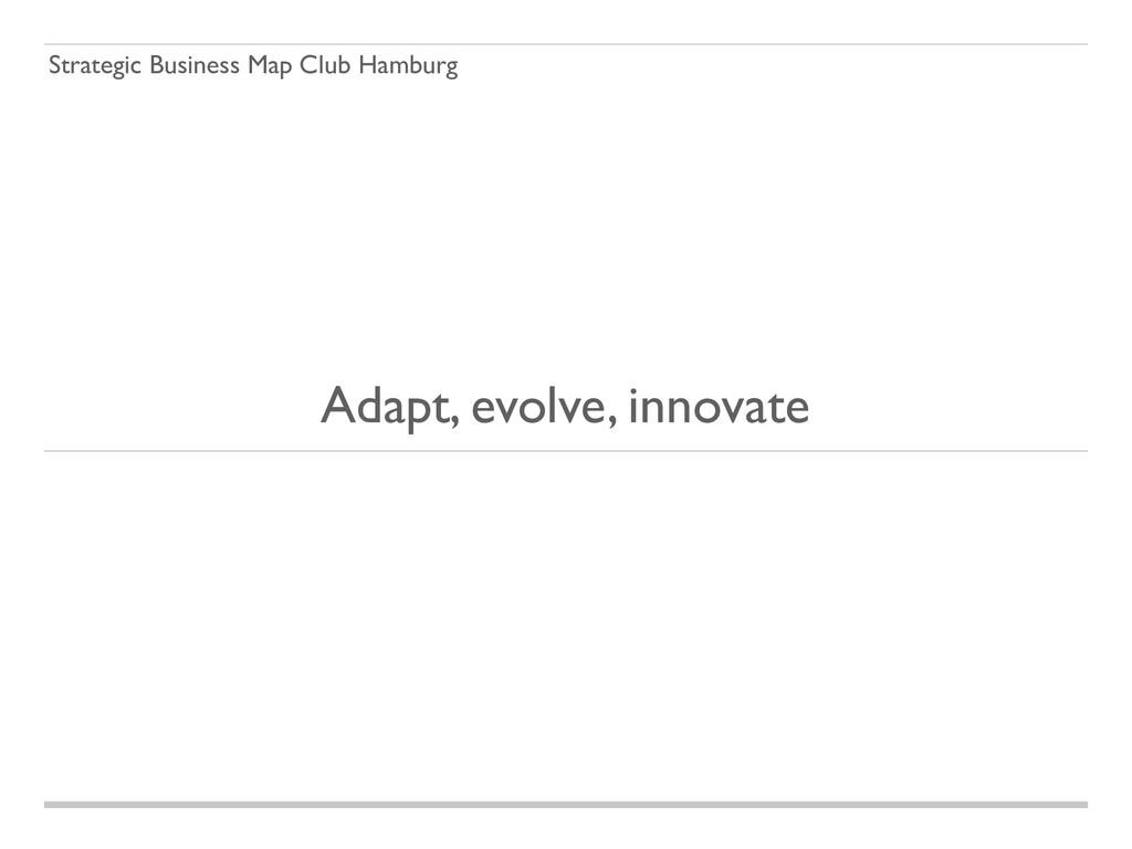 Strategic Business Map Club Hamburg Adapt, evol...