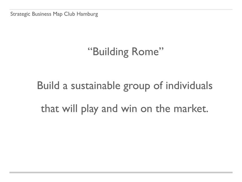 "Strategic Business Map Club Hamburg ""Building R..."