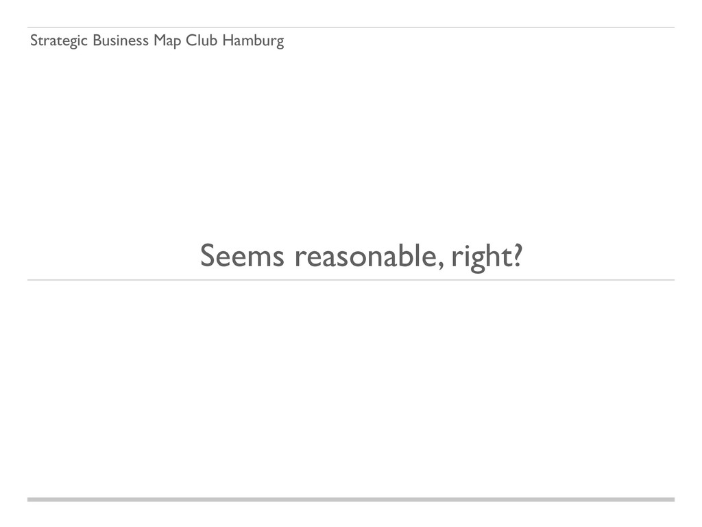 Strategic Business Map Club Hamburg Seems reaso...