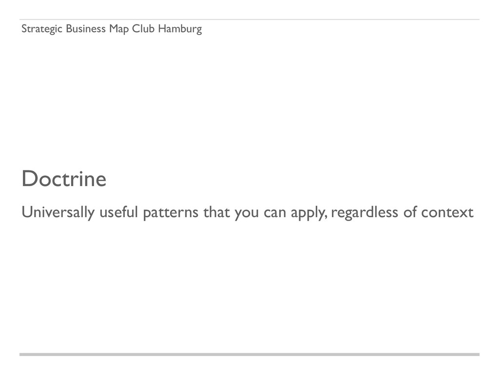 Strategic Business Map Club Hamburg Doctrine Un...