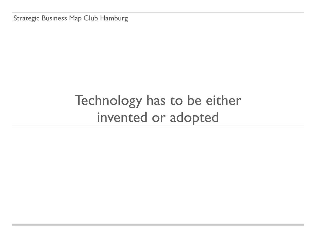 Strategic Business Map Club Hamburg Technology ...