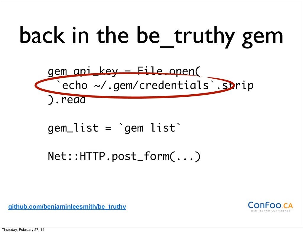 gem_api_key = File.open( `echo ~/.gem/credentia...