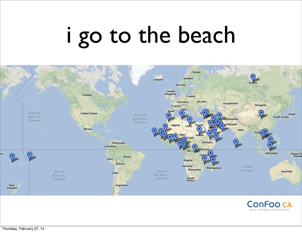 i go to the beach Thursday, February 27, 14