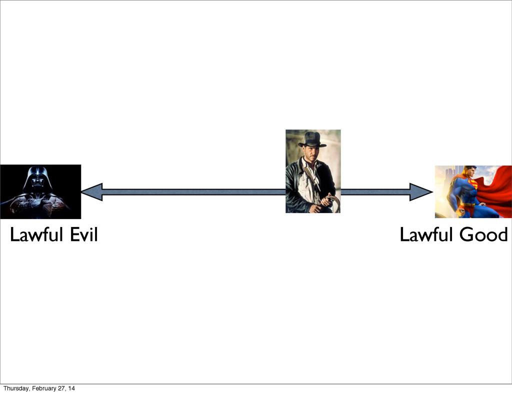 Lawful Evil Lawful Good Thursday, February 27, ...