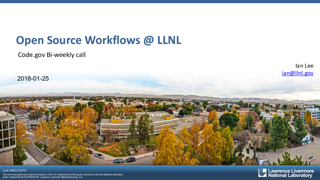 LLNL-PRES-702741 This work was performed under ...