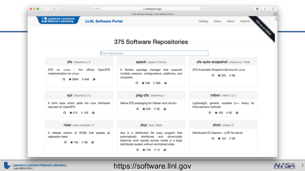LLNL-PRES-702741 3 https://software.llnl.gov